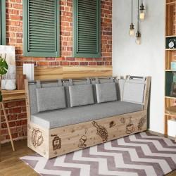скамья прямая Роденго со спальным местом